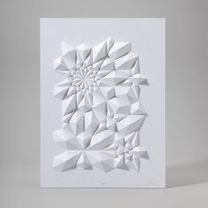 Posters Whose Paper Sprouts Into 3-D Crystals