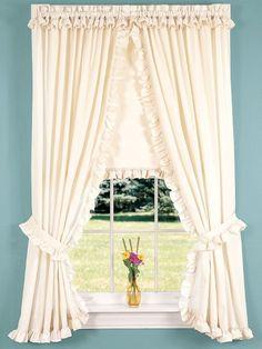 Rod Pocket Curtains Drapes Narrow Ruffle Perma Press