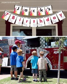 Paper and Cake   PandC real life party: Jack's Firetruck Birthday!   http://www.paperandcake.com