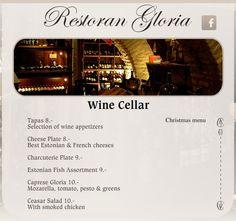 Gloria Restaurant in Tallinn http://www.gloria.ee/