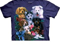 woman's or men's plus size t-shirt, puppy collage, stonewashed,multicolored size 3xl, brand new 100% preshrunk cotton