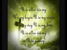 Retief Burger - U is alles vir my - You Tube Download Gospel Music, Praise And Worship, Afrikaans, Gods Love, Soundtrack, My Music, Singing, Spirituality, Language