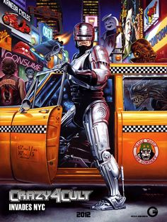 Crazy 4 Cult: New York Poster by Jason Edmiston Crazy 4 Cult: New York, an art show featuring over 200 artists and their classic cult movie inspired 80s Movie Posters, 80s Movies, Movie Poster Art, Cult Movies, Great Movies, Throwback Movies, Movie Collage, Childhood Movies, Action Movies