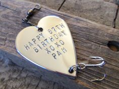 Happy Birthday 40th Birthday Special Birthday Gifts for Men Milestone Grandpa Uncle Brother Step Dad Boss Friend I'd Rather be Fishing Lure