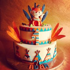 ideas baby shower cake woodland boy for 2019 Baby Shower Cakes For Boys, Baby Shower Desserts, Baby Boy 1st Birthday, 1st Birthday Parties, Fox Cake, Tribal Baby Shower, Woodland Cake, Baby Kind, First Birthdays
