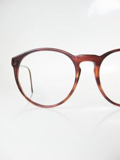 4e9f0aa931 Vintage Round Eyeglasses Italian Womens Eyeglass Frames Ladies Glasses  1960s 60s Mid Century Modern Mad Men Chic Tortoiseshell Brown