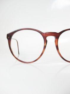 4e9f0aa931 Vintage Round Eyeglasses Italian Womens Eyeglass Frames Ladies Glasses  1960s 60s Mid Century Modern Mad Men Chic Tortoiseshell Brown