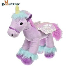 Cushion Home Textile Unicorn Stuffed Animals Soft Doll Pillow Cartoon Unicorn Animal Horse High Quality Sofa Sleep Pillow Toy Gift For Children Convenient To Cook