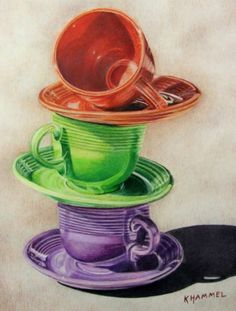 The Balancing Act  8 x 10.5 colored pencil by Kimberly Hammel