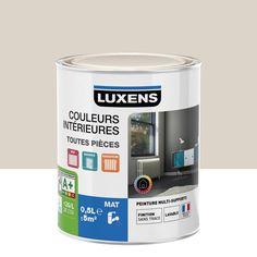 Lovely Peinture Multisupports Couleurs Intérieures Mat LUXENS, Blanc Lin N°1, 0.5 L