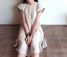 He encontrado este interesante anuncio de Etsy en https://www.etsy.com/es/listing/217033239/crinkled-linen-babydoll-dress-with