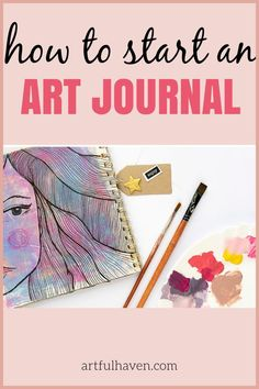 Art Journal Prompts, Drawing Journal, Art Journal Techniques, Art Journal Pages, Art Journals, Journal Ideas, Therapy Journal, Art Therapy, Mail Art Envelopes
