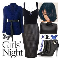 """Girls' Night 💃🍸"" by sexyshonda ❤ liked on Polyvore featuring Stella Luna, PierAntonio Gaspari, Alexander McQueen, INC International Concepts, Visionnaire and girlsnight"