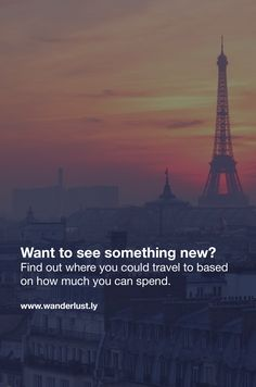 Get travel recommendations based on your budget and interests. Cheap trips to the coolest cities worldwide!