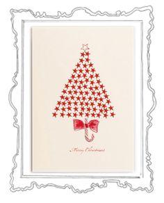 Star Tree Was gibt es Schöneres als in der glitzernden Weihnachtszeit liebe Menschen mit herzlichen Zeilen zu überraschen und etwas Weihnachtszauber zu verschicken. Das Weihnachtskarten schreiben ist eine zauberhafte Tradition, die zu Weihnachten – dem Fest der Liebe und Familie – einfach dazugehört.  Die elegante Klappkarte, in einem zarten Cremeweiß, hat das Format 118 x 168 mm ( 200g ) und der Umschlag 125 x 176 mm (120g ).