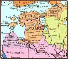 Kurland, Livland, Estonia, around 1560