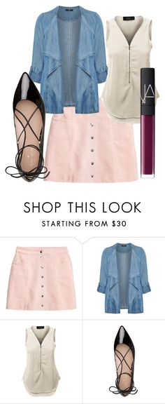 """""""Flow-y but Denim"""" by allison4accent-artworks on Polyvore featuring Evans, LE3NO, Kate Spade and NARS Cosmetics"""