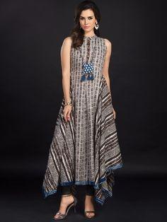 Brown cotton printed festive wear kurti - G3-WKU0670 | G3fashion.com
