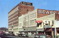 This is a photo of the old Sears and the Prince Charles Hotel downtown Fayetteville NC, many many years ago when I was very small.
