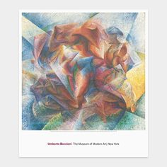 Boccioni: Dynamism of a Soccer Player Poster | MoMAstore.org - art I like