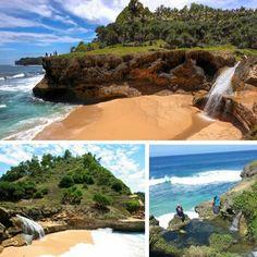 Banyu tibo beach, east java indonesia...