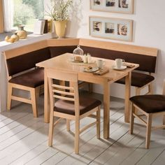 Hardwood Flooring Idea Feat Small Table Design In Modern Breakfast Nook And Trendy L Shaped Banquette