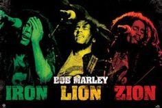Bob Marley Iron Lion Zion Poster  24X36.....$6.98 http://rastacart.com/rasta-posters/ #bobmarley #rastafarian #posters #reggae