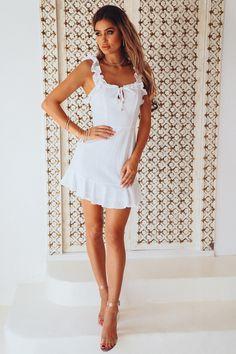 Saturday Love Dress White