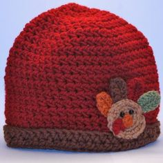 Hat of the Day!  Turkey Applique Hat!