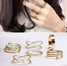 bestwishes2u 6pcs Fashion Punk Finger Joint Knucle Midi Ring Set