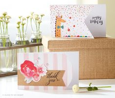 """Ready-To-Assemble #ThankYouCardKit #CardKit #Cards These """"Cut Above"""" card kits are available on my website!"""