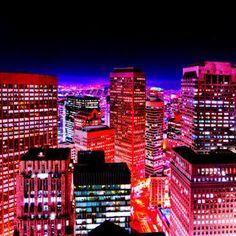 Night shot of San Francisco city skyline shot from bridge of Mandarin Oriental Hotel San Francisco At Night, San Francisco City, Night Lights, City Lights, Oriental Hotel, Neon Nights, Night Shot, Mandarin Oriental, Times Square