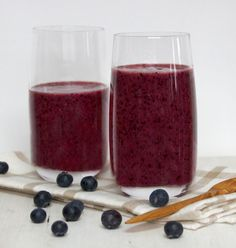 Cinnamon, Date & Blueberry Smoothie