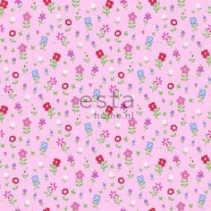 137318 HD vliesbehang bloemen roze