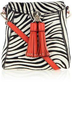 Karen Millen Zebra Tassel Bag