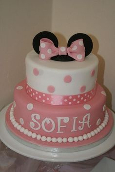 Birthday Cake Simple Pink Minnie Mouse 64 New Ideas Bolo Da Minnie Mouse, Minnie Mouse Birthday Cakes, Minnie Mouse Theme, Pink Minnie, Minnie Mouse Cake, Mickey Mouse, Cake Birthday, Cute Cakes, Pretty Cakes