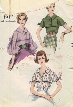 1950s Vintage Vogue Sewing Pattern Tuck In by AdeleBeeAnnPatterns, $16.50