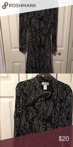 Dress Black and white. Spiegel Dresses Midi