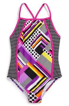 4c92bc3f53 Girl's Speedo 'Poptical' One-Piece Swimsuit Swimsuits, Bikinis, Best  Swimwear,