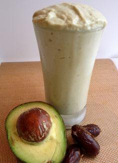 Avocado Date Smoothie (Try adding Sea Salt) - gotta use up my avocados!