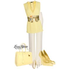 """""""Soft Yellow"""" by longstem on Polyvore"""