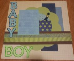 Baby Boy Premade 2 Page 12x12 Scrapbook Layout by CheekyCreationz, $12.00