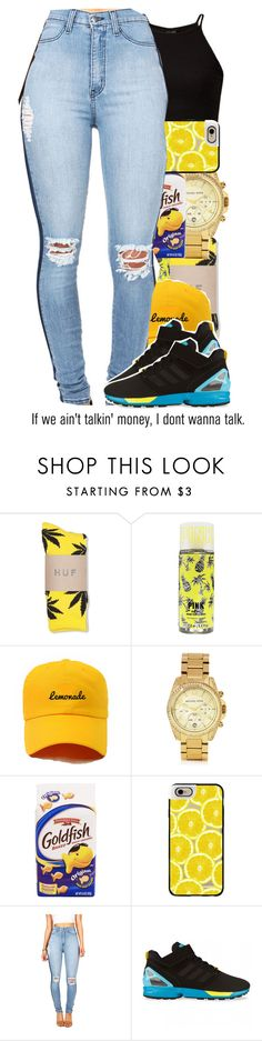 """""""Show love to my page for a s/o ♡"""" by wma0411 ❤ liked on Polyvore featuring HUF, Michael Kors, AG Adriano Goldschmied, Casetify and adidas Originals"""