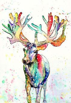 Sally Goodden - Christmas Ray Reindeer - Artists & Illustrators - Original art for sale direct from the artist