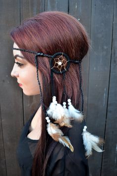 Hey, I found this really awesome Etsy listing at https://www.etsy.com/listing/209180123/dreamcatcher-feather-headband-feather