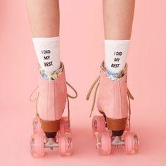 Pink skates #pink