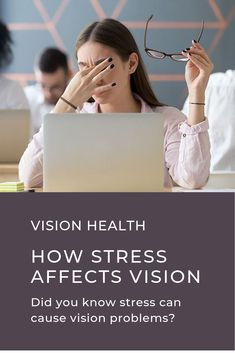 Did you know stress can cause several vision issues, including eye twitching, blurry vision, headaches, and more? Stress Symptoms, Stress Causes, Blurry Eyes, Eye Twitching, Eye Pain, Ways To Relieve Stress, Vision Therapy, Vision Eye
