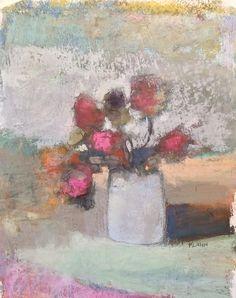 "Mixed Floral. 2014. 8.75"" x 7."" Pastel, Oil & Graphite. Casey Klahn."
