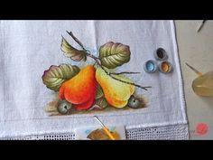 Pintura em Tecido para Iniciantes Flores e Folhas Parte I.wmv - YouTube