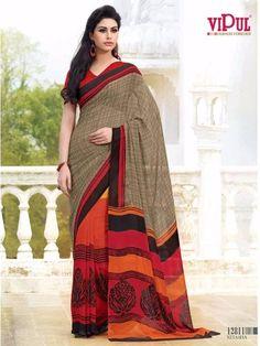 Multi Colour Designer Vipul Casual Saree Pt